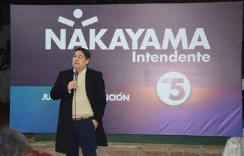Eduardo Nakayama, candidato de la alianza de partidos opositores para las elecciones municipales del 10 de octubre.