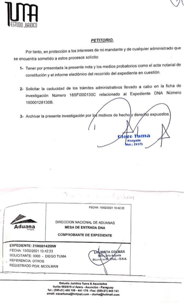 El abogado de la firma, Diego Tuma, pidió la anulación del caso.