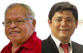 Cándido González (izquierda) asumirá la intendencia de Yguazú en reemplazo de Mauro Kawano (derecha).
