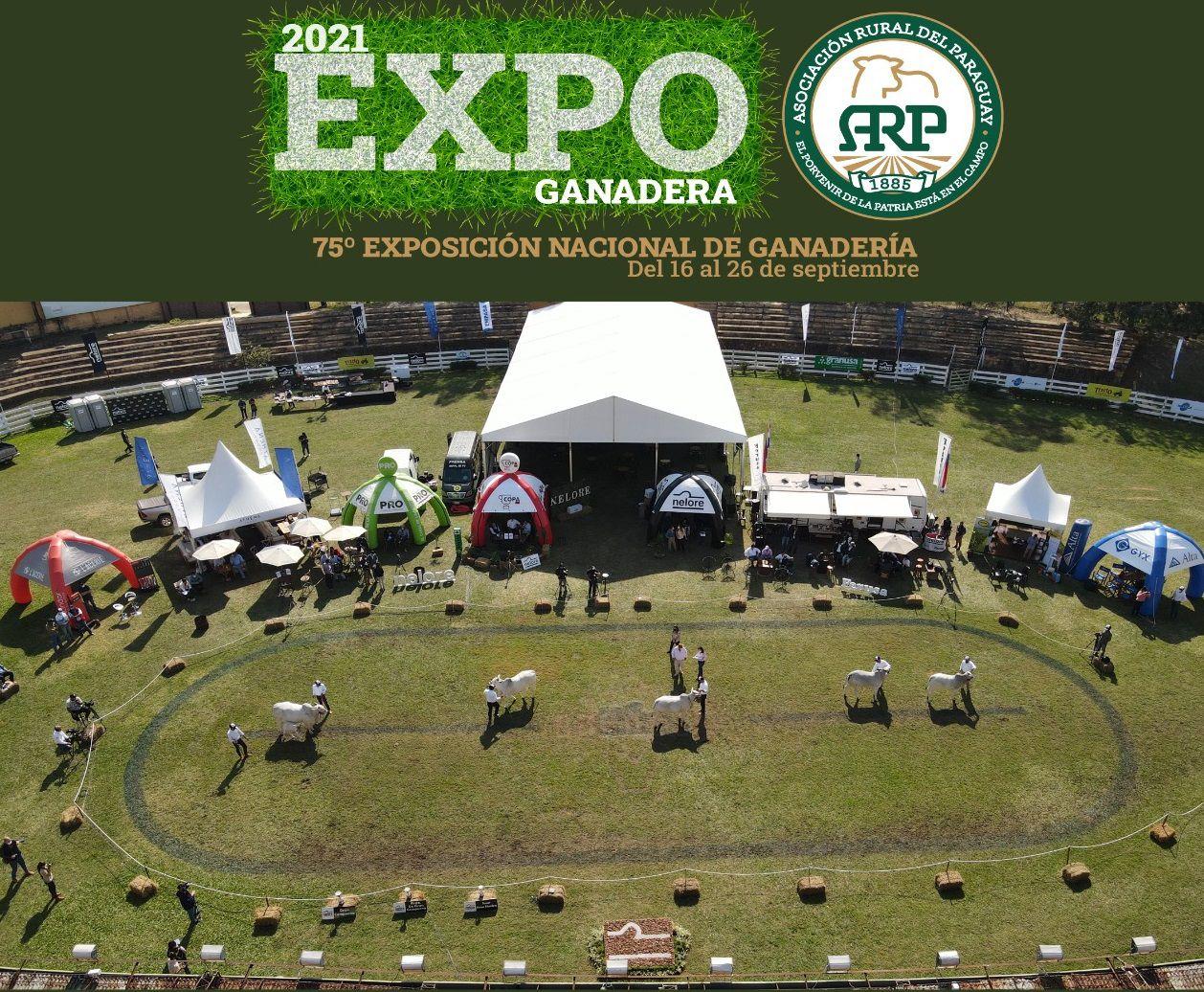 Vista aérea del Ruedo Central de la Expo de Roque Alonso, en una de las recientes ferias de razas bovinas.
