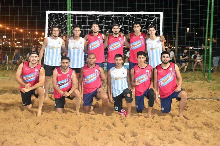 El equipo Masculino de Villarrica Beach.