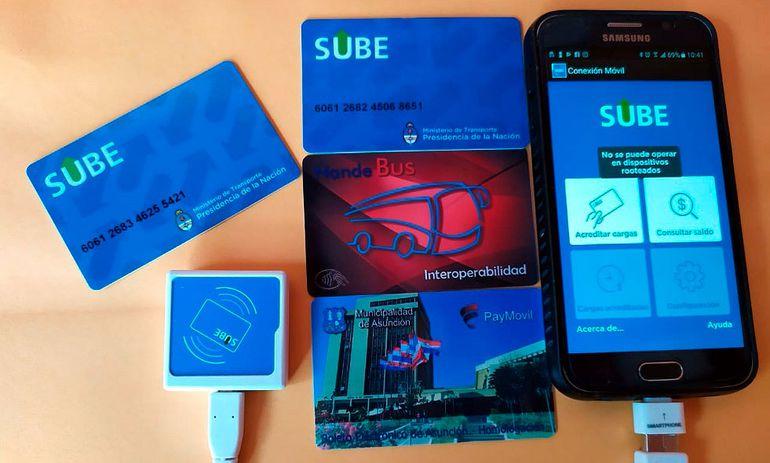 """Con la tarjeta """"Sube"""",   Pay Móvil  busca operar en Asunción."""