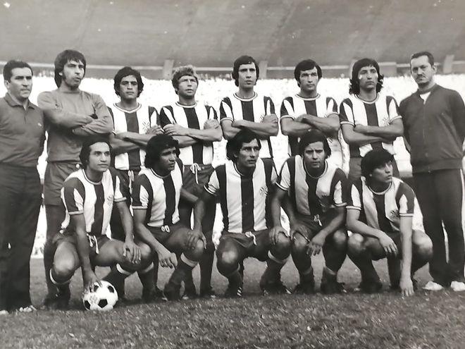 La selección paraguaya de los setenta.