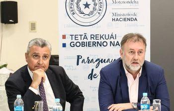 Juan Ernesto Villamayor, junto a Benigno López.