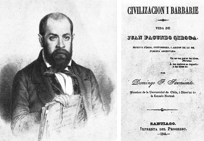 Guardas del Facundo, editado en Santiago de Chile, en la Imprenta del Progreso, en 1845.