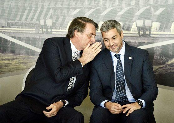 Mario Abdo y Jair Bolsonaro