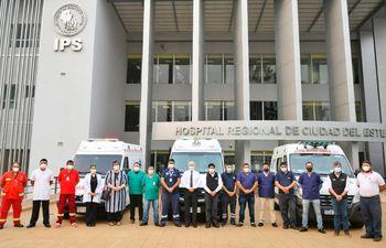 Un total de 32 profesionales se incorporaron ayer para la lucha contra el covid-19, en Alto Paraná.
