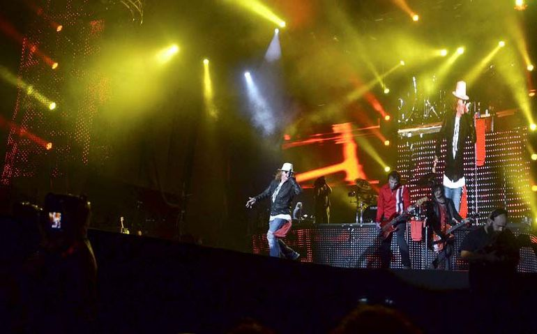 La banda de rock Guns N' Roses.