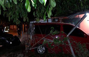 Daños materiales por accidente de tránsito en Ayolas