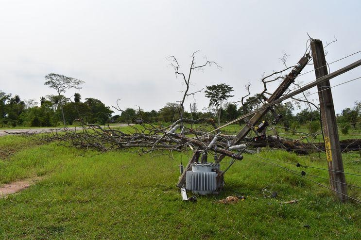 Temporal afectó al departamento de San Pedro y varias comunidades siguen sin energía eléctrica