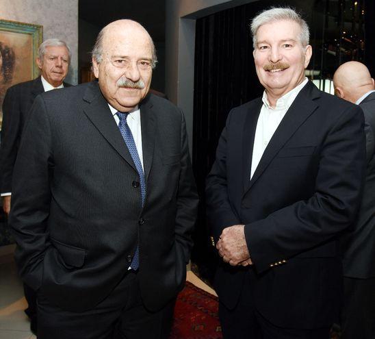Embajador de Brasil, Carlos Simas Magalhaes, y Miguel Carrizosa.