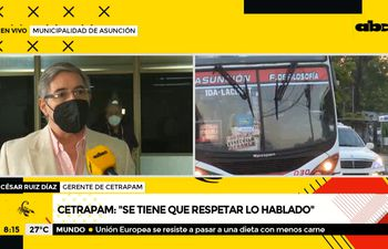 """""""Si salen a las calles en horas no pico, no van a encontrar buses llenos"""", según César Ruiz Díaz"""