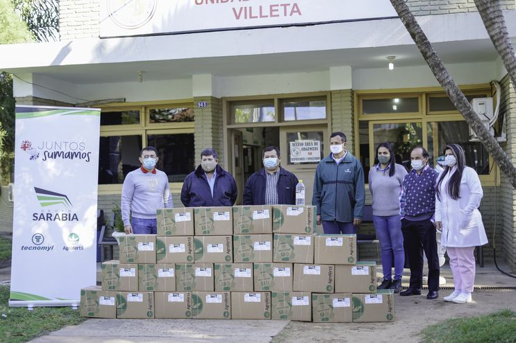 Entrega de alcohol en gel a IPS de Villeta.