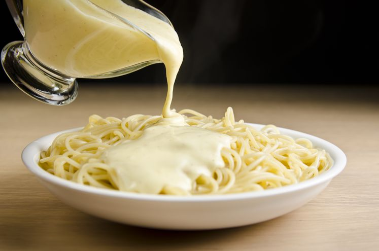Salsa de quesos.