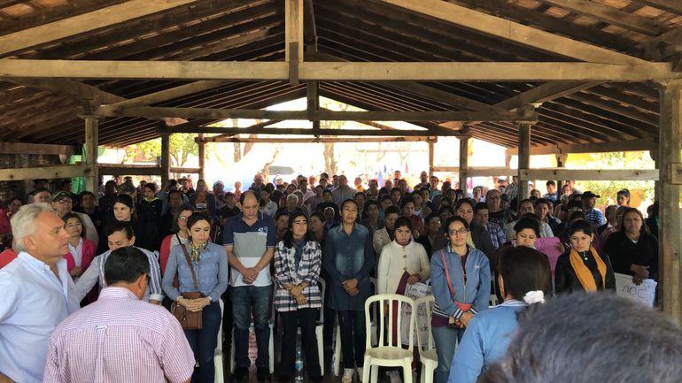 Pobladores de Yaguarón se manifestaron en contra del vertedero de una empresa vinculada a un político liberal.