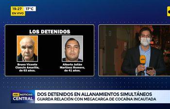 Dos detenidos en allanamientos simultáneos