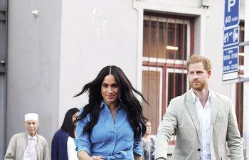 Harry y Meghan durante una visita en Ciudad del Cabo, Sudáfrica, en 2019.