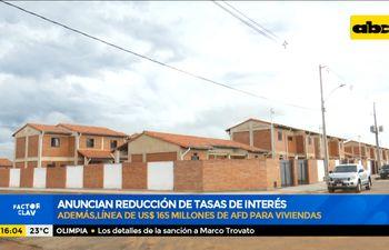 Anuncian reducción de tasas de interés para viviendas