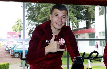 Braian Samudio, jugador paraguayo del Toluca.