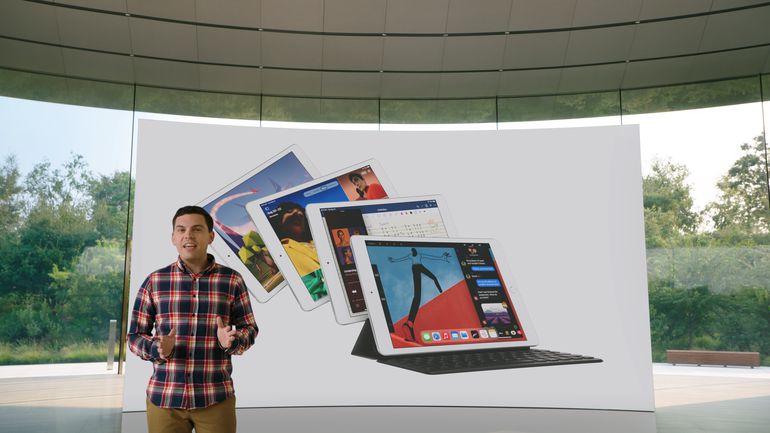 Ted Merendino muestra la octava generación de iPads.