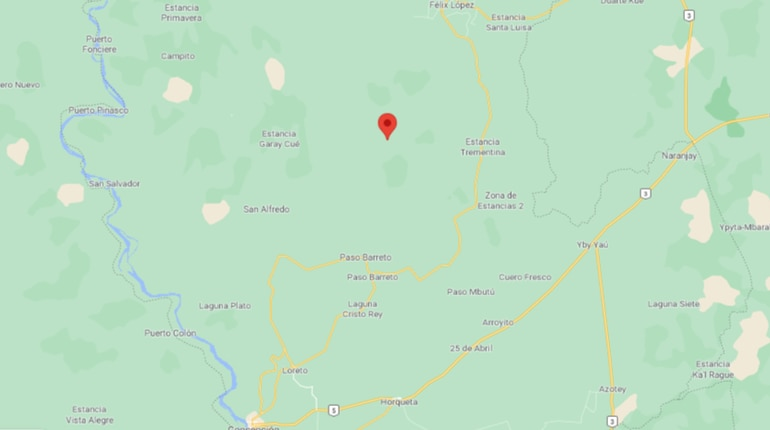 La estancia presuntamente atacada es la denominada Machuca Cué, ubicada en Paso Barreto, Concepción.