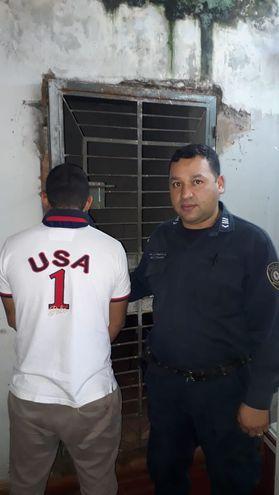 Braulio Ariel Tillería Martínez se encuentra detenido en sede policial.