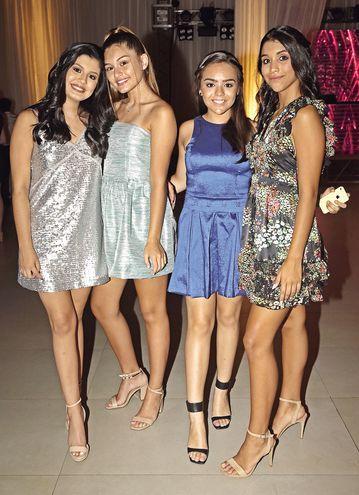 Luciana Leiva, Abril Ramírez, Sol Molas y Florencia Gómez.